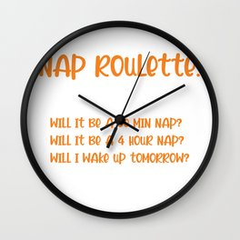 Nap Roulette Lazy Person Gift Wall Clock