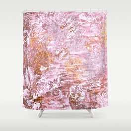 Abstract Autumn In Gold-Rosé Shower Curtain