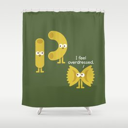 Pasta Party Shower Curtain