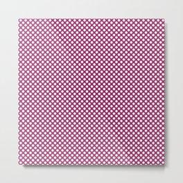 Festival Fuchsia and White Polka Dots Metal Print