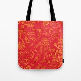 Flora Pattern Tote Bag