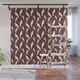 Kereru and magnolia - chocolate  Wall Mural