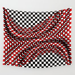 black white red Wall Tapestry