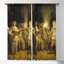 "Antoine Watteau ""The Italian Comedy"" Blackout Curtain"