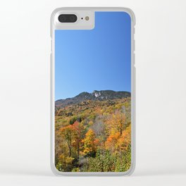 Autumn Forest under a Blue Sky, Vertical Clear iPhone Case