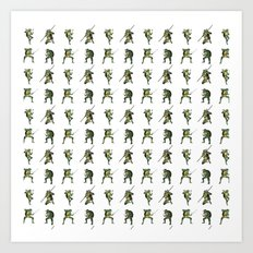 Ninja Turtle Pattern Art Print
