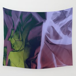 Deep Purple and Green Abstract Wall Tapestry