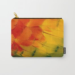 Texture: Colorful Parrot Feathers Carry-All Pouch