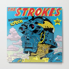 the strokes tour 2020 atinum6 Metal Print
