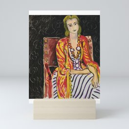 Henri Matisse Woman Seated Before BlackBackgrond 1942 Mini Art Print