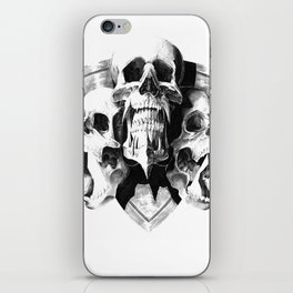 ominous dark without type iPhone Skin