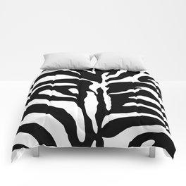Black and white Zebra Stripes Design Comforters
