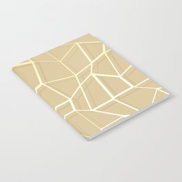 Floating Shapes Gold - Mid-Century Minimalist Graphic Notebook