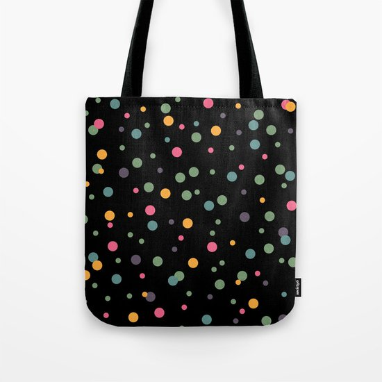 Happy Rounds on Black Tote Bag
