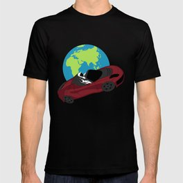 Tesla in Space – SpaceX Inspired Design T-shirt
