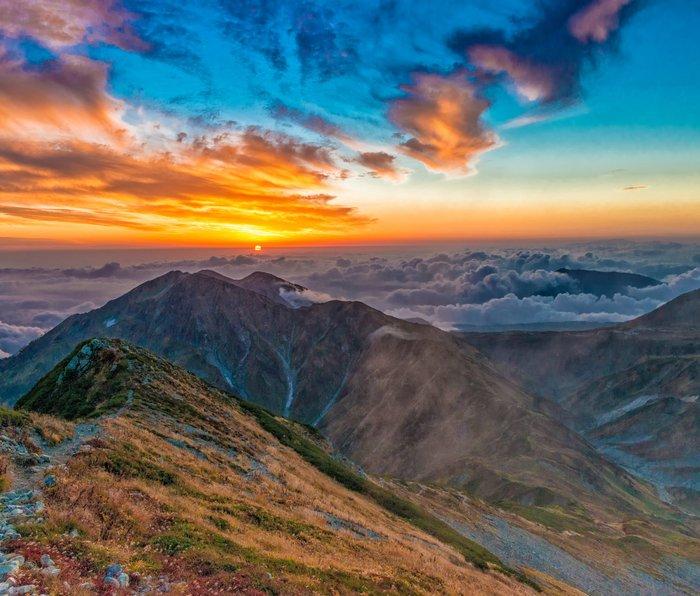 Northern Alps I Metal Travel Mug