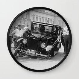 Broken car USA Wall Clock