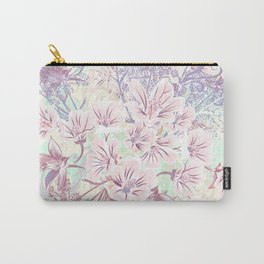 Beautiful spring vector illustration with pink flowers Carry-All Pouch
