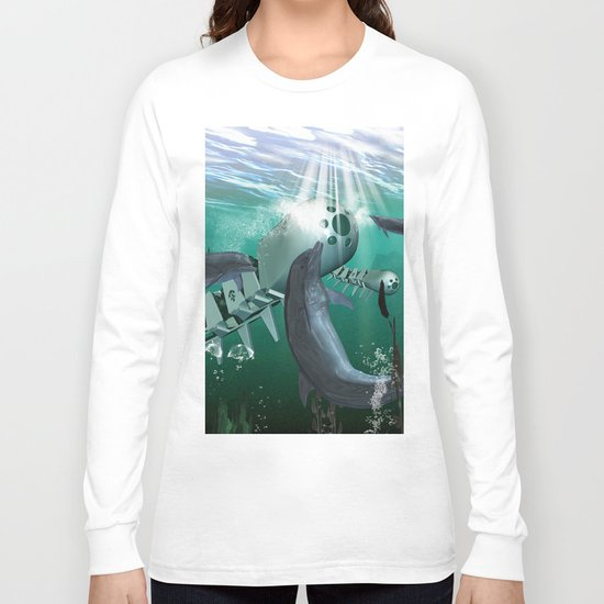 Mechanical fish and dolphins Long Sleeve T-shirt