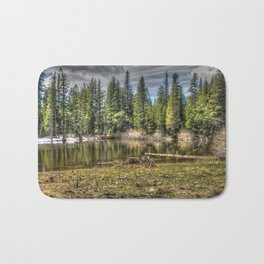 Reflecting Pond at Carson Spur, Amador County CA Bath Mat