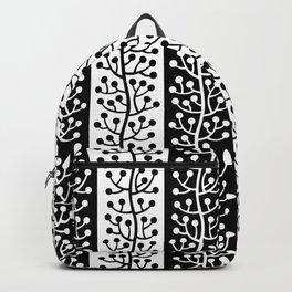 Mid Century Modern Berry Vine Stripes Black and White Backpack