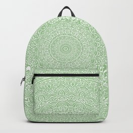 The Most Detailed Intricate Mandala (Green Olive Lime) Maze Zentangle Hand Drawn Popular Trending Backpack