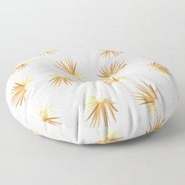 Golden Boho Palm Leaf Watercolor Floor Pillow