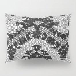 Black Vintage Lace Pillow Sham