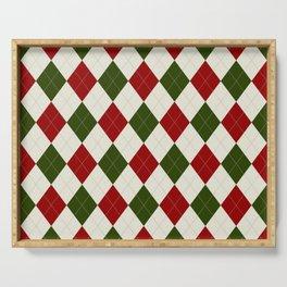 Christmas Argyle Pattern Serving Tray