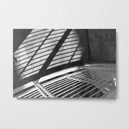 Railing Shadows Metal Print