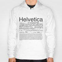 helvetica Hoodies featuring Helvetica (Black) by Zuno