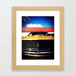 Orange Mustang  Framed Art Print