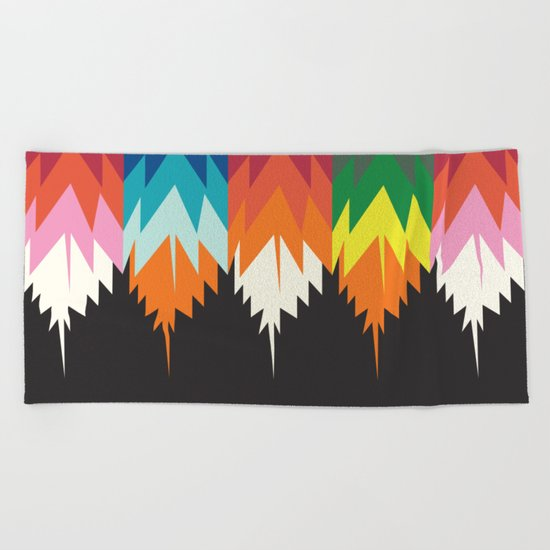 American Native Pattern No. 8 Beach Towel