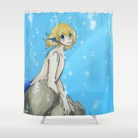 snk Shower Curtains featuring Mer!Armin by Sir-Snellby
