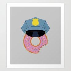 Officer Donut Art Print