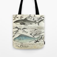 notebook Tote Bags featuring Sealife Notebook by Common Design