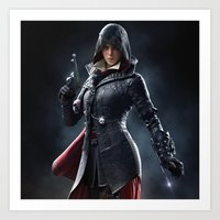 assassins creed Art Prints featuring Female Assassins Creed by Tom Lee