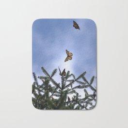 Monarchs flying Bath Mat