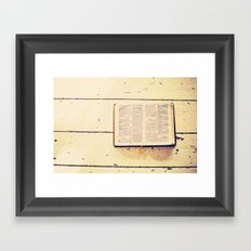 Reading the Psalms Framed Art Print