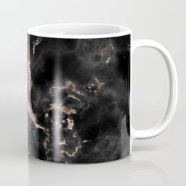 Chic abstract rose gold black elegant marble Coffee Mug