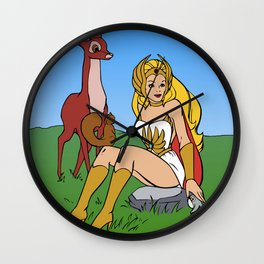 Etherian Princess Wall Clock