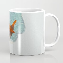 Little Red Robin in the Snow Coffee Mug
