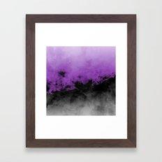 Zero Visibility Radiant Orchid Framed Art Print