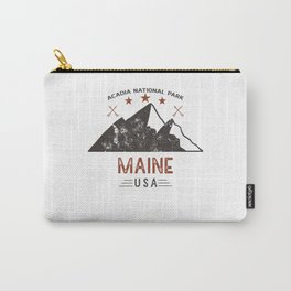 Vintage Acadia National Park Maine Carry-All Pouch