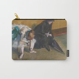 Waiting by Edgar Degas Carry-All Pouch