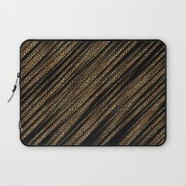 Black Leopard/Cheetah Print Laptop Sleeve