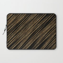 Black Leopard/Cheetah Print Laptop Sleeve