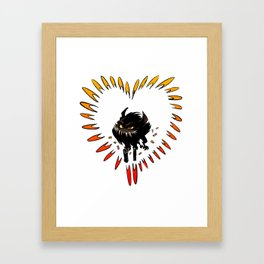 All you need is love... and guns Framed Art Print