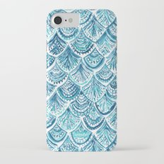 NAVY LIKE A MERMAID Fish Scales Watercolor iPhone 7 Slim Case
