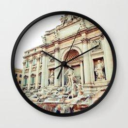 Fontana di Trevi in Rome, Italy Wall Clock